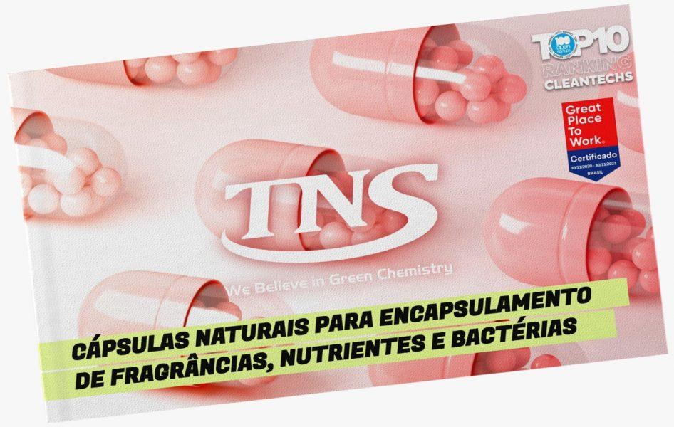 Cápsulas naturais para encapsulação de fragrâncias, nutrientes e bactérias