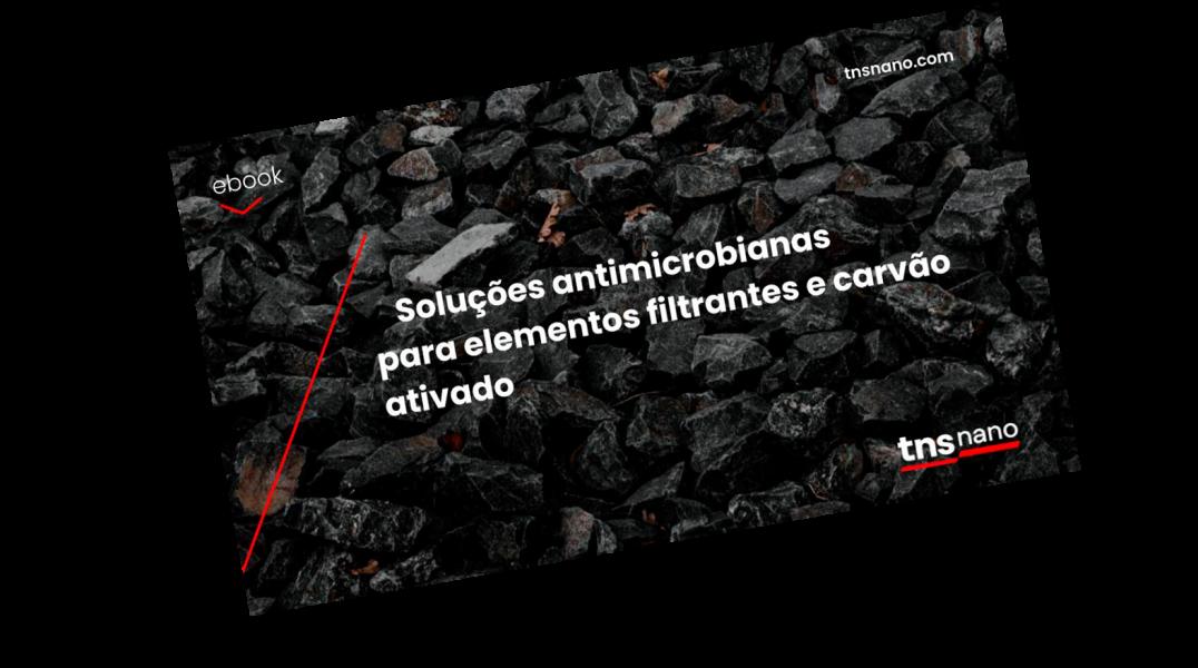 Soluções antimicrobianas  para elementos filtrantes e carvão ativado